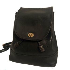 Vintage Coach Leather Backpack *Flawed Strap